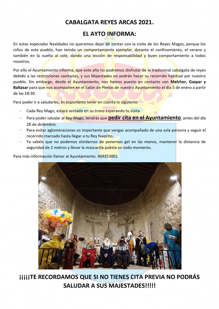 Cabalgata de Reyes 2021. Arcas