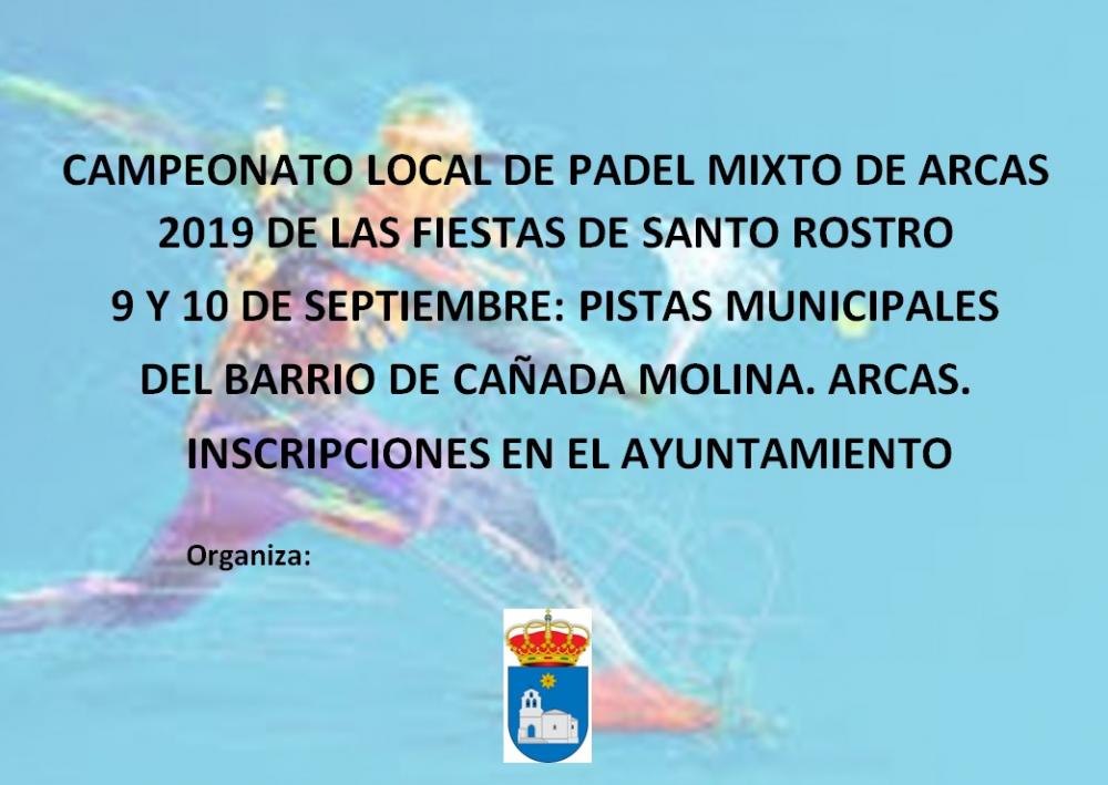 Campeonato Local de Padel Mixto en Arcas